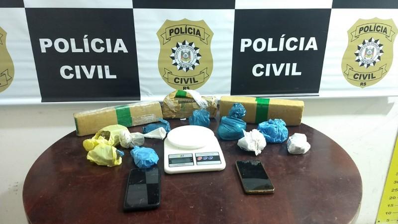 Duas pessoas são presas por tráfico de drogas em Gramado