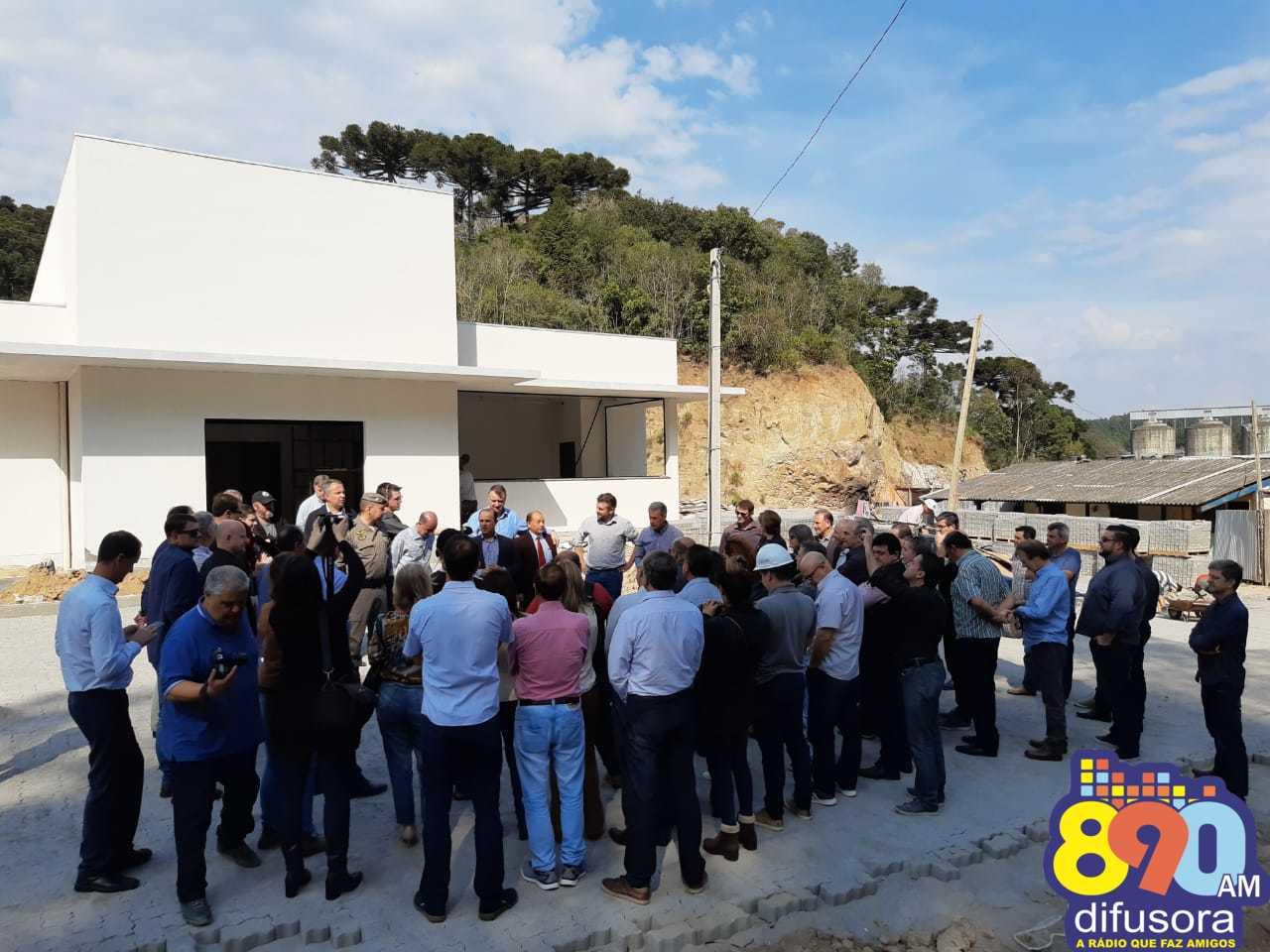 Realizada visita oficial às obras da nova sede do 3º BRBM em Garibaldi