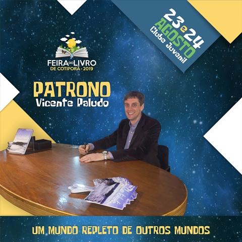 Vicente André Paludo é o patrono da Feira do Livro 2019 em Cotiporã