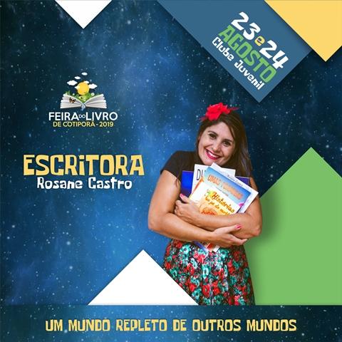 Feira do Livro de Cotiporã contará com a participação da Escritora Rosane Castro