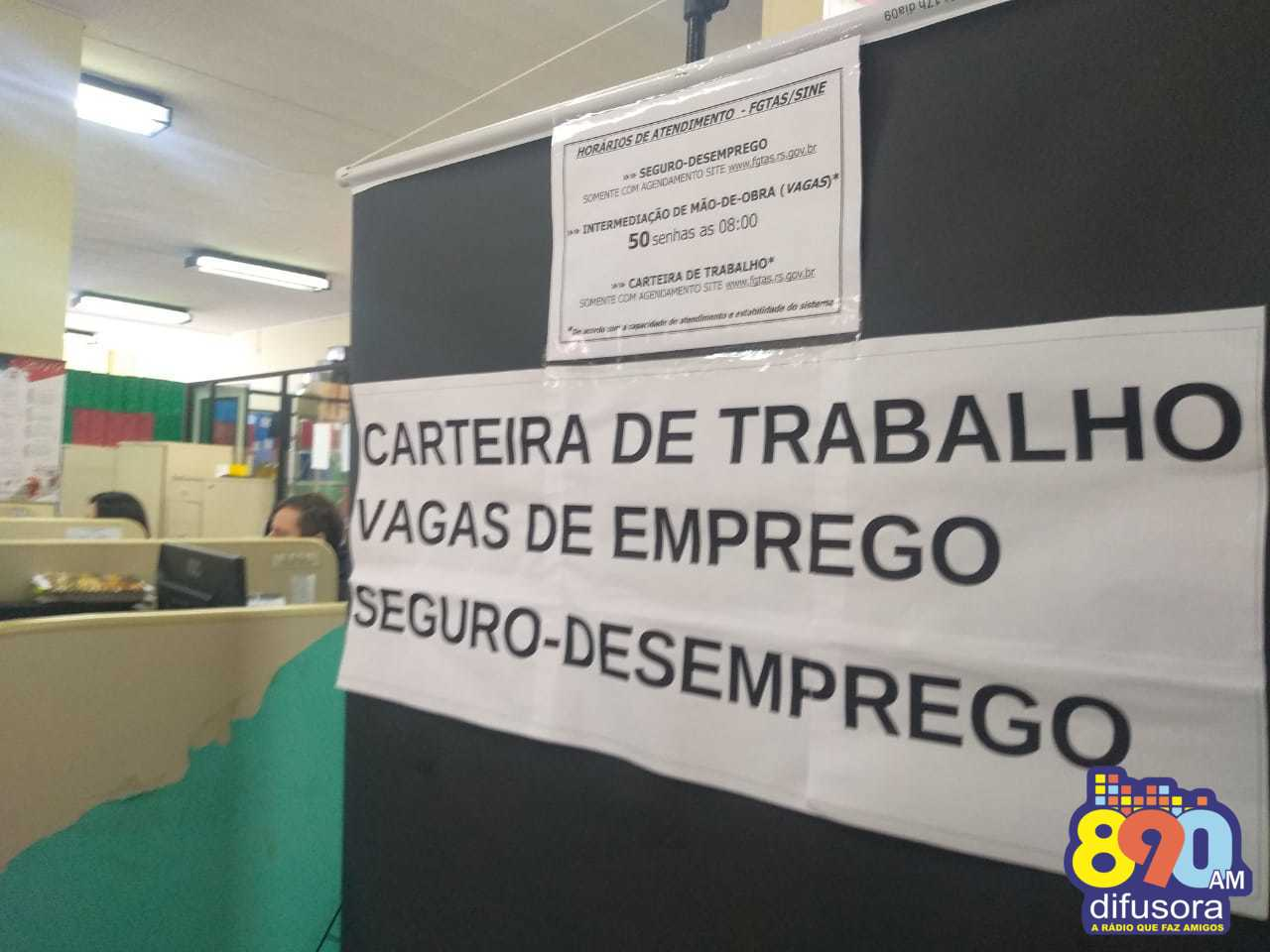 FGTAS/Sine de Bento oferta mais de 100 vagas de emprego