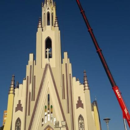 Igreja Matriz Cristo Rei recebe nova pintura e passa por revitalização em Bento