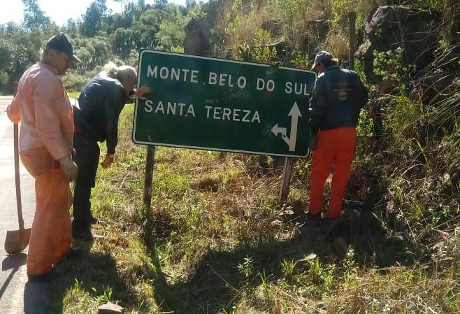 Daer atende pedido da Prefeitura de Santa Tereza e executa melhorias na ERS-444