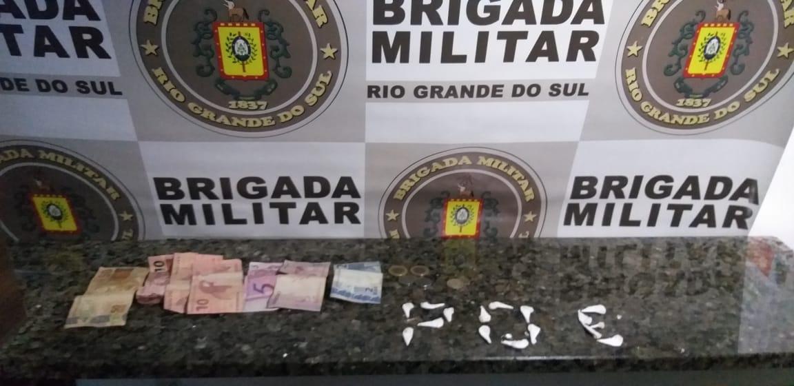 Brigada Militar prende homem por tráfico de drogas em Farroupilha