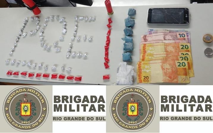 Indivíduo é preso pela 3ª vez em dois meses em Bento, agora, por tráfico de drogas