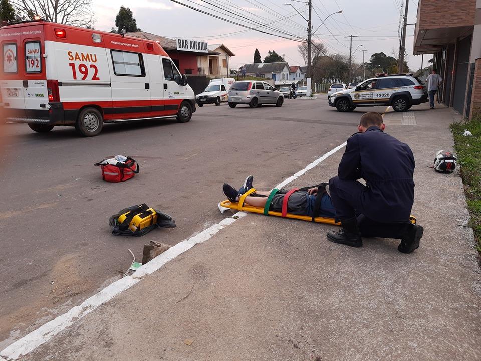 Idosa fica ferida após atropelamento no São Roque em Bento