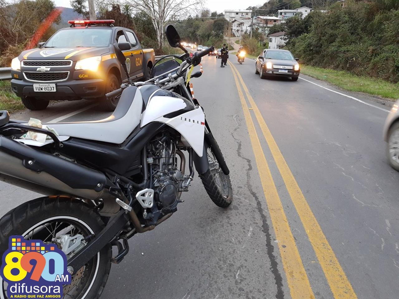 Motociclista fica gravemente ferido após acidente na ERS-444 nos Eucaliptos em Bento