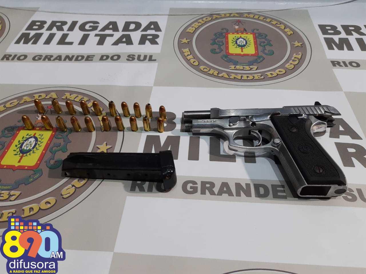 POE apreende arma e munições em abordagem no Goretti em Bento