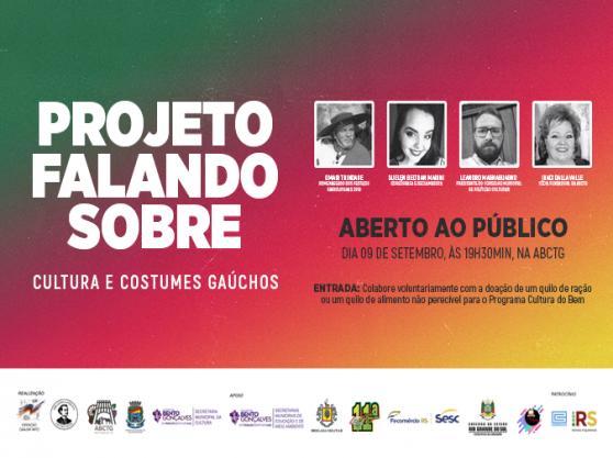 """""""Cultura e Costumes Gaúchos"""" é pauta do projeto """"Falando Sobre"""" em Bento"""