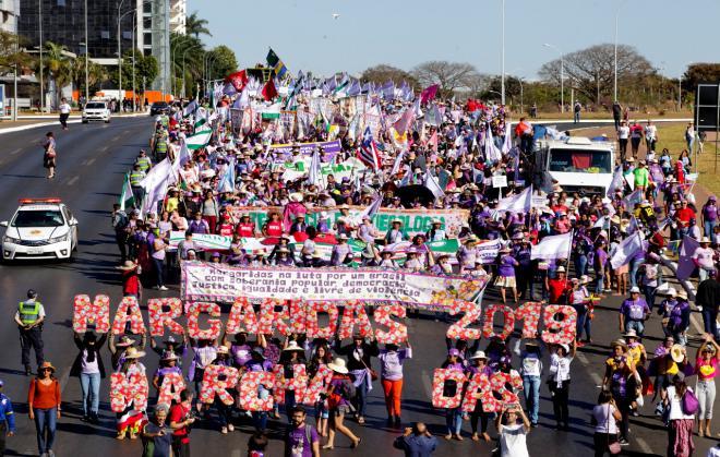 Sindicato dos Trabalhadores Rurais de Bento participa da Marcha das Margaridas