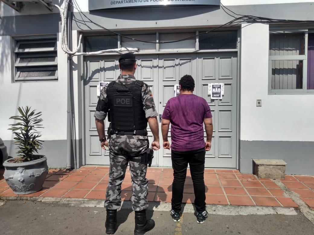 Foragido é recapturado no bairro Aparecida em Bento