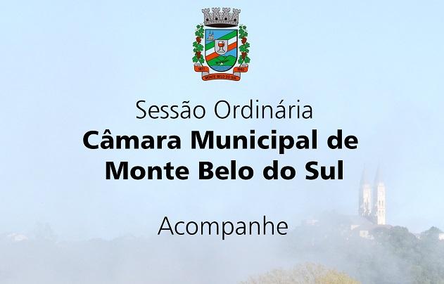 Vereadores devem votar cinco projetos em Monte Belo do Sul