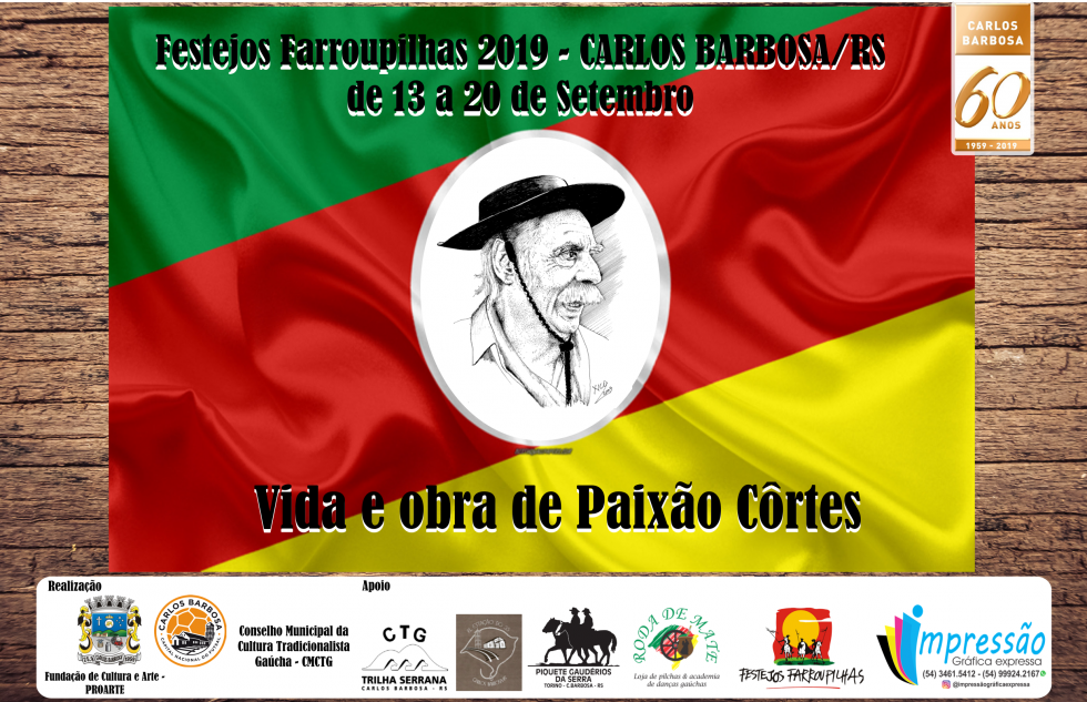 Semana Farroupilha de 13 a 20 de setembro em Carlos Barbosa