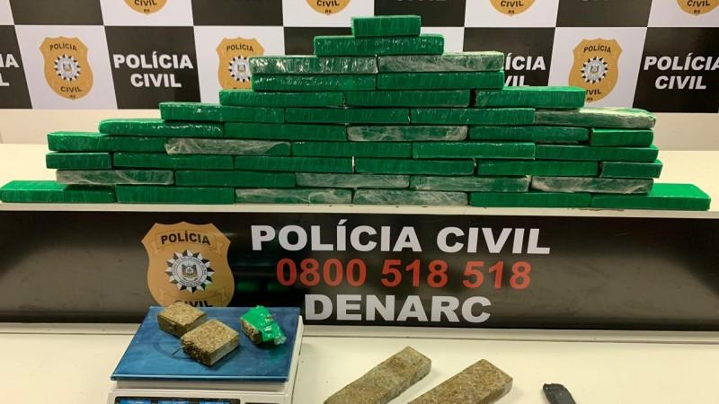 Polícia Civil localiza depósito de drogas e apreende 30kg de maconha no RS