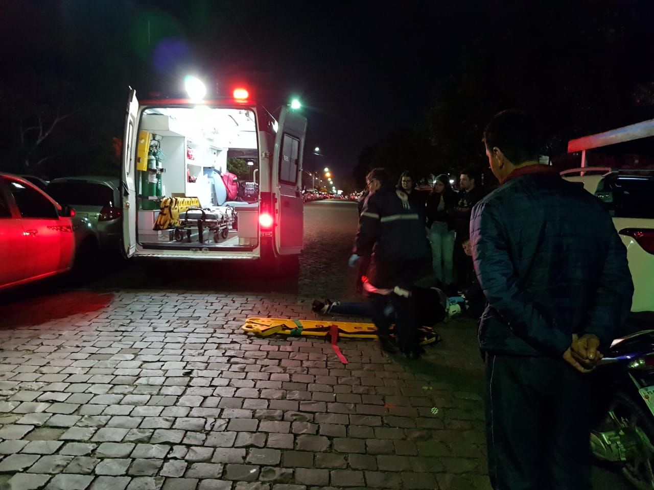 Mulher fica ferida em acidente no bairro Planalto em Bento