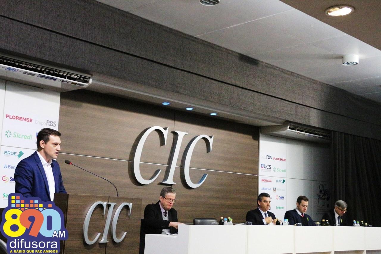 Na CIC Caxias, Pasin defende aproximação de propósitos para a região da Serra