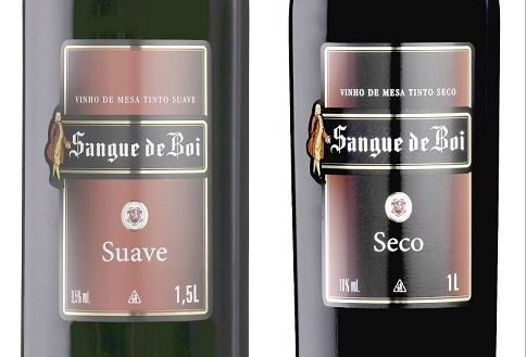 Clássico no varejo, vinho Sangue de Boi chega ao mercado em garrafas de 1 litro e de 1,5 litro
