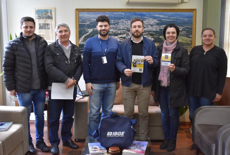 Coordenador do Censo Demográfico se reúne com secretário em Veranópolis