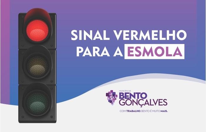 """Campanha """"Sinal Vermelho para a Esmola"""" realiza ação de conscientização neste sábado, em Bento"""
