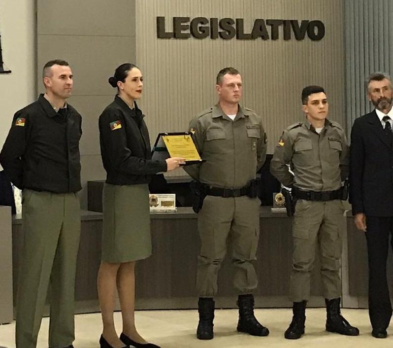 Município de André da Rocha homenageia a Brigada Militar por serviços prestados à comunidade