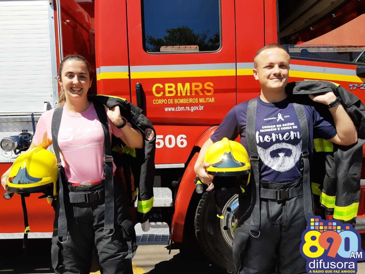 Bombeiros de Bento apoiam campanhas Outubro Rosa e Novembro Azul
