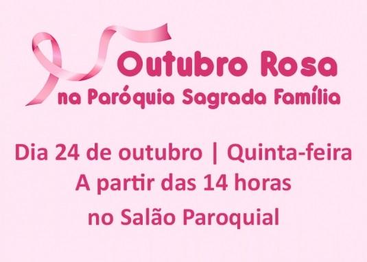 Paróquia Sagrada Família, de Caxias, promove evento de prevenção ao câncer