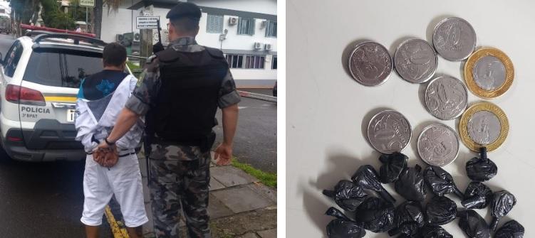 Detento do regime domiciliar é preso por tráfico em Bento