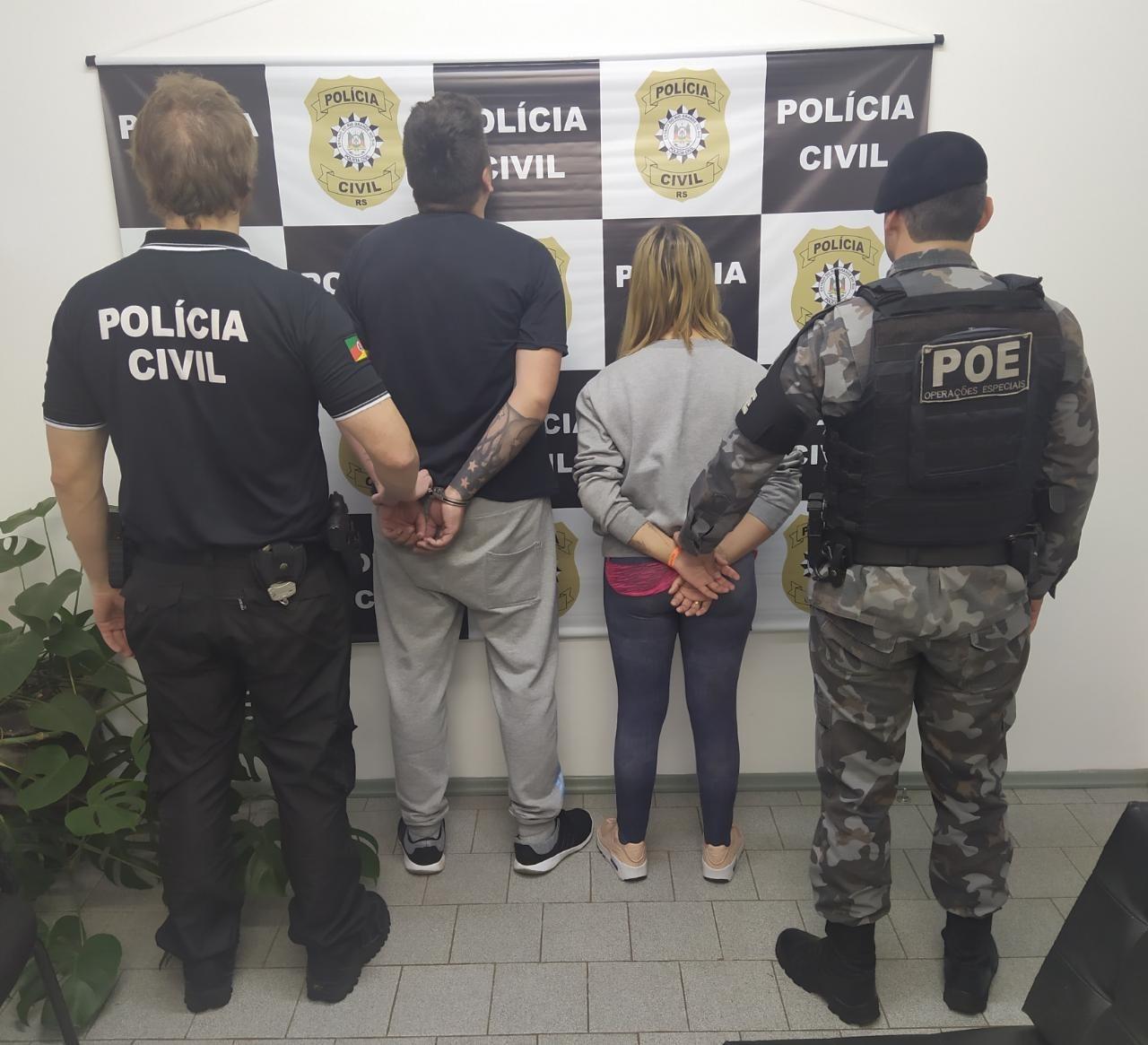 POE e Polícia Civil prende casal por tráfico de drogas em Nova Bassano