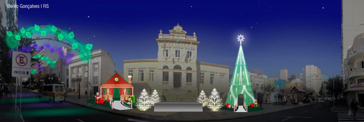 Decoração irá enfeitar pontos e ruas no Natal Bento 2019