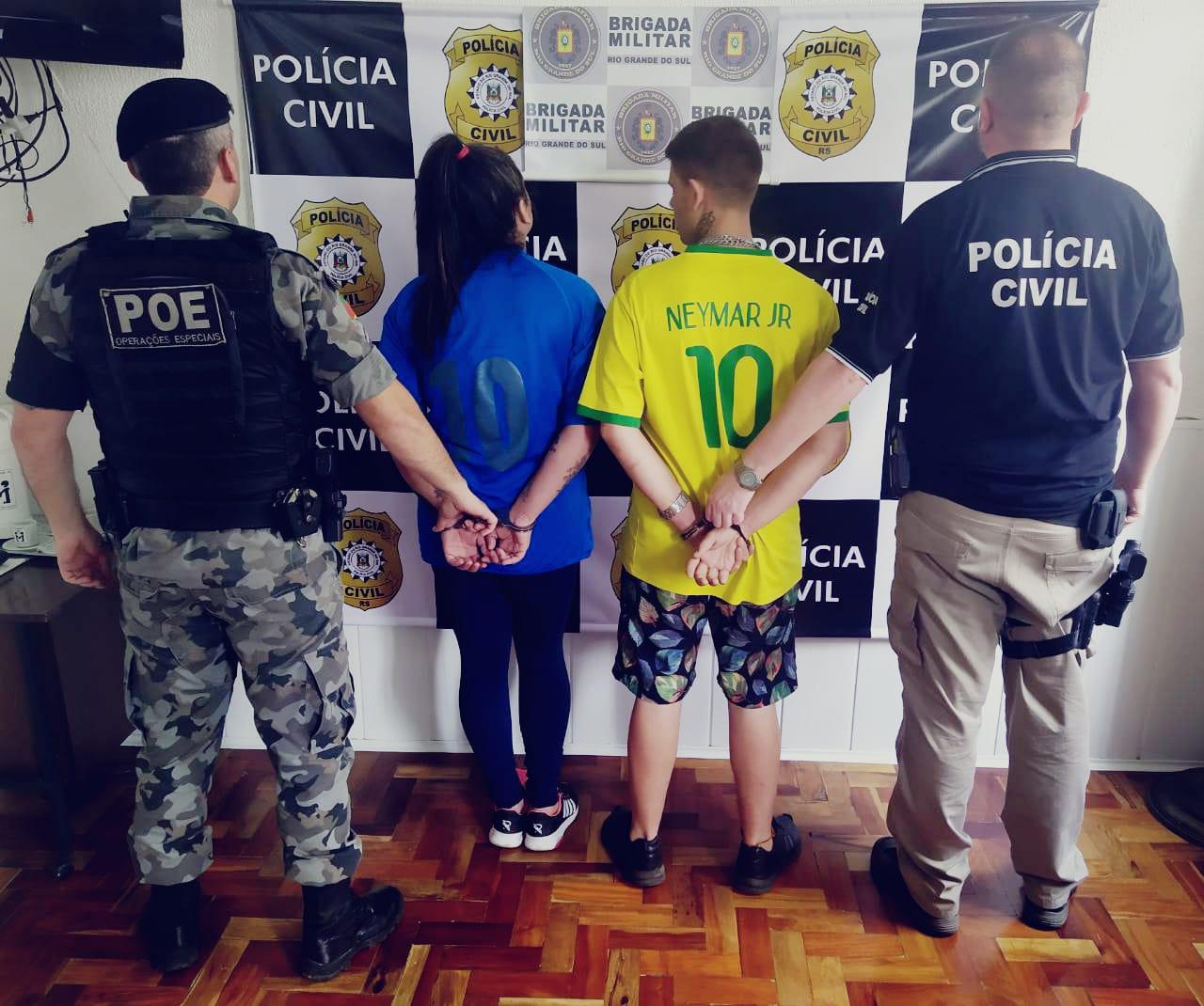Casal é preso por tráfico de drogas em Veranópolis