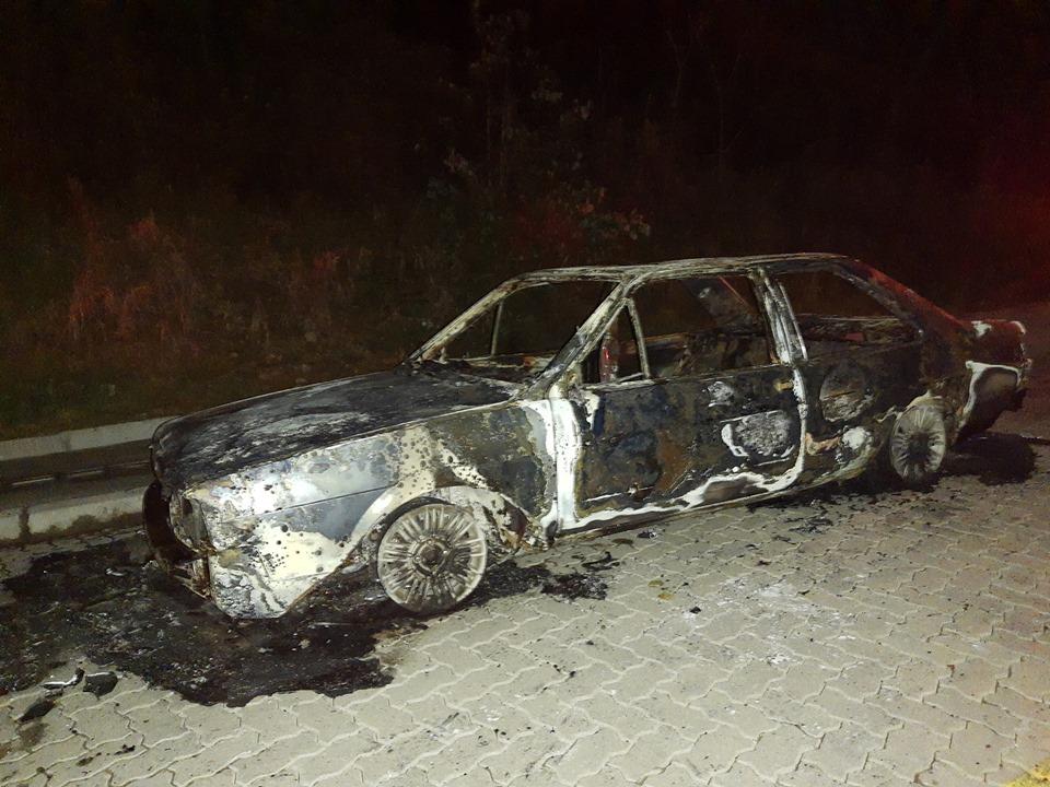 Brigada Militar localiza veículo abandonado e queimado nos Eucaliptos em Bento