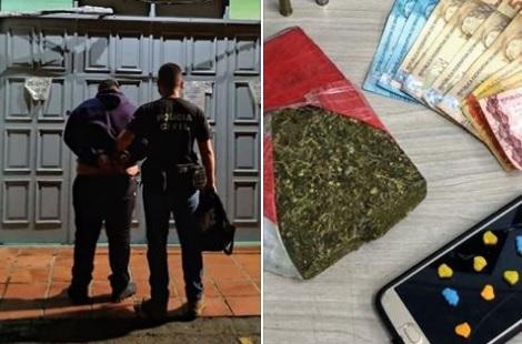 Polícia Civil prende homem por tráfico e apreende drogas em Bento