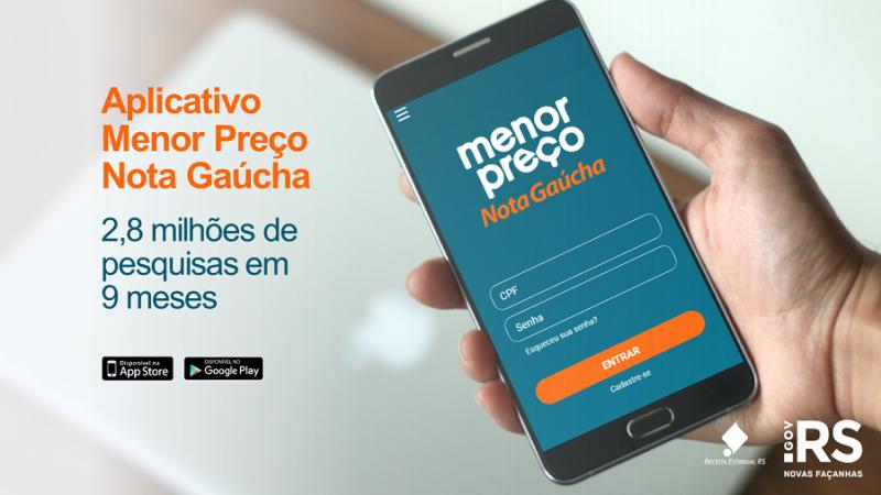 Aplicativo Menor Preço Nota Gaúcha tem 2,8 milhões de consultas
