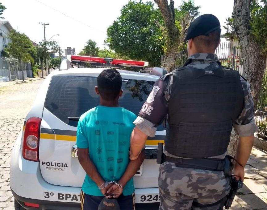 Brigada Militar prende foragido no bairro Maria Goretti em Bento