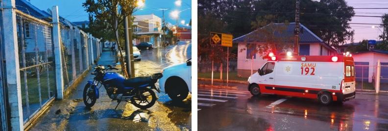 Acidente deixa motociclista ferido no Aparecida em Bento