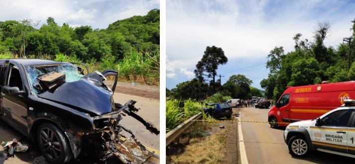 Grave acidente resulta em morte e pessoas feridas na ERS-324 em Nova Araçá