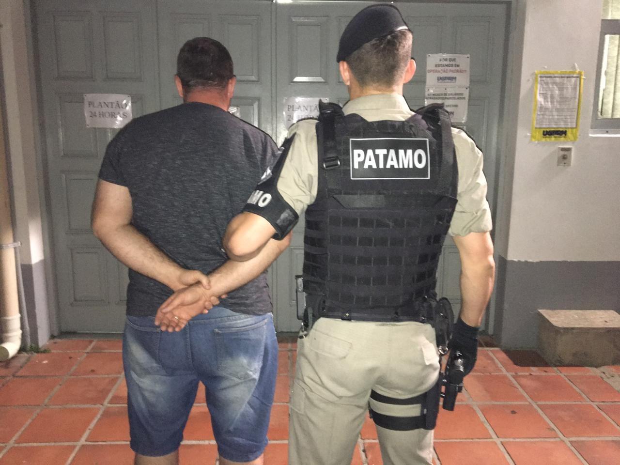 PATAMO da Brigada Militar prende procurado da justiça em Bento