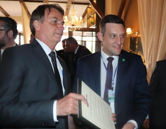 Prolongamento da BR-448 é solicitado ao presidente Jair Bolsonaro