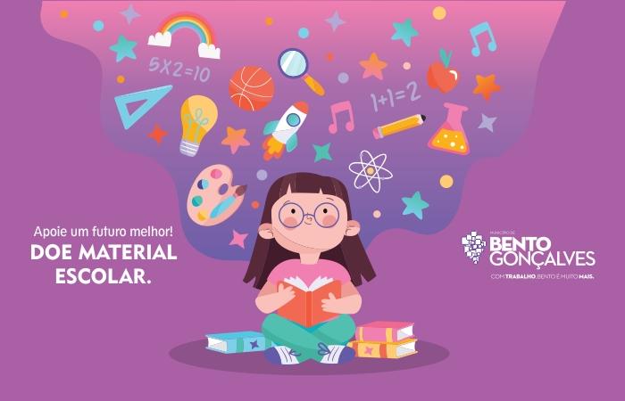 Campanha de arrecadação de materiais escolares tem mais de 30 pontos de coleta em Bento