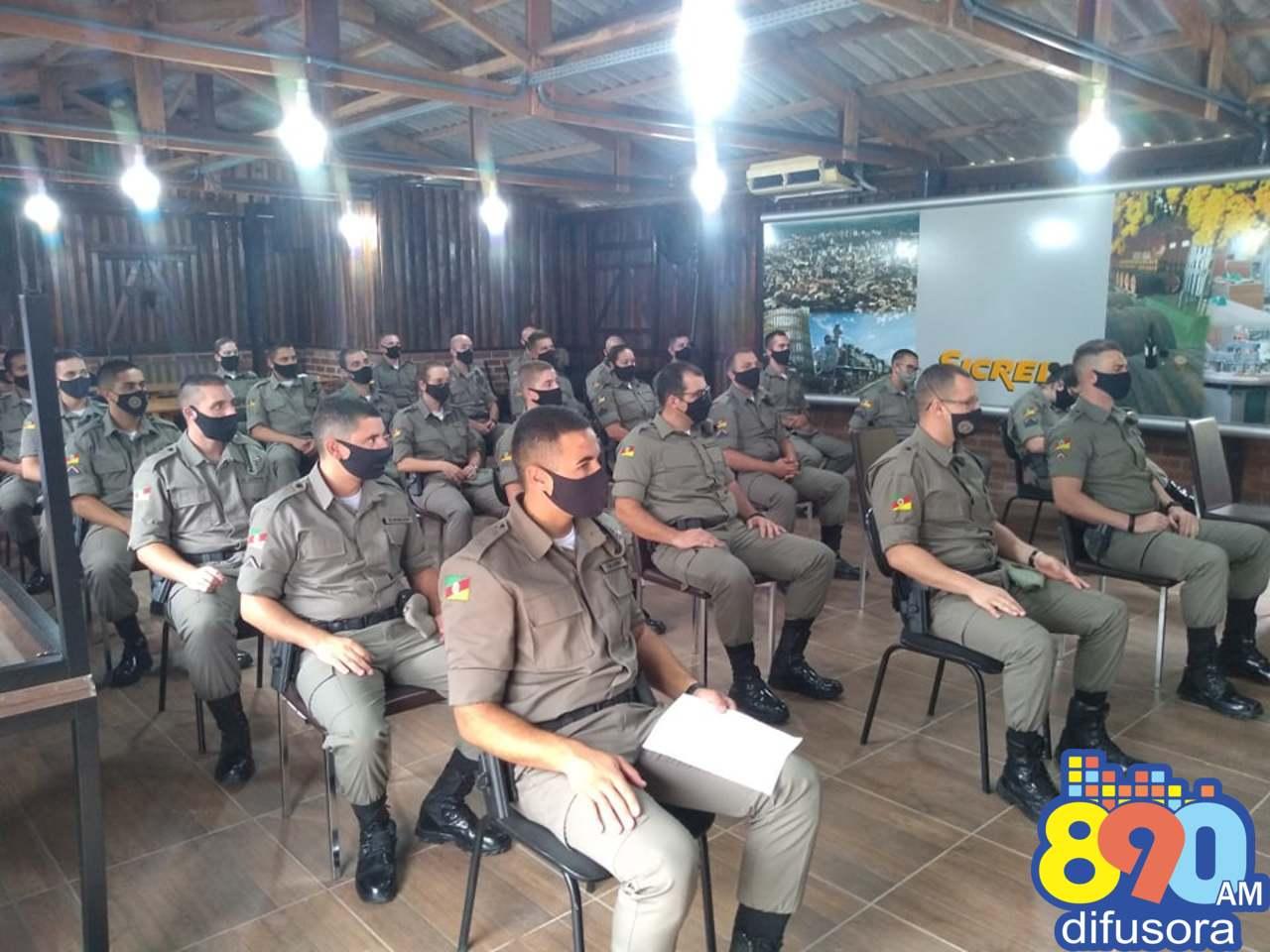 Brigada Militar de Bento Gonçalves recebe reforço de novos soldados