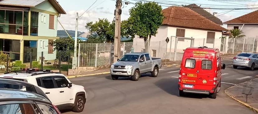 Motociclista fica ferido em acidente no Botafogo em Bento