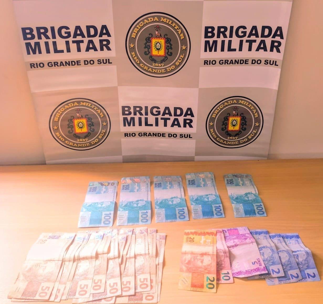 Brigada Militar prende indivíduo com notas falsas em Garibaldi