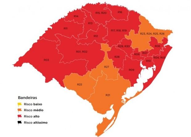 Três regiões em bandeira vermelha enviam recursos ao mapa preliminar da 38ª rodada