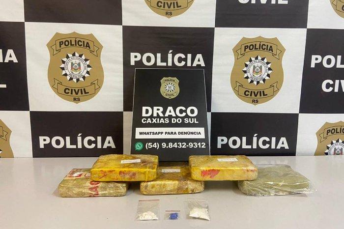 Indivíduo é preso com 5,5 quilos de cocaína pura em Caxias