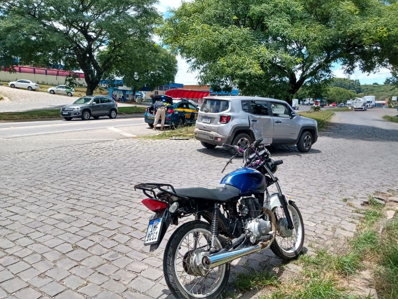 Motociclista fica ferido em acidente na BR-470, em Garibaldi