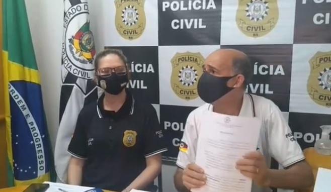 Em coletiva, delegados falam sobre chacina ocorrida em Bento Gonçalves e identificam perfil das vítimas