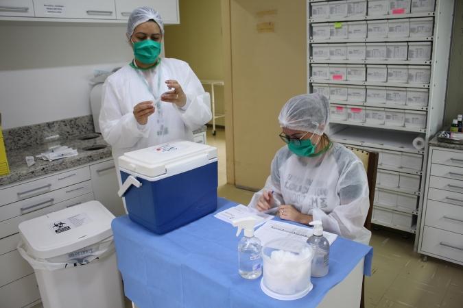 Segue vacinação contra o coronavírus nas instituições de longa permanência em Bento