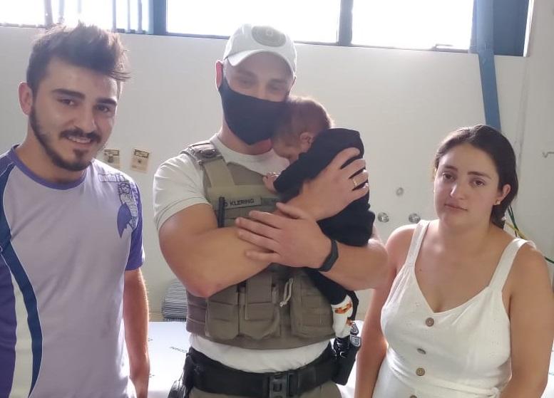 BM salva bebê engasgado em Bento
