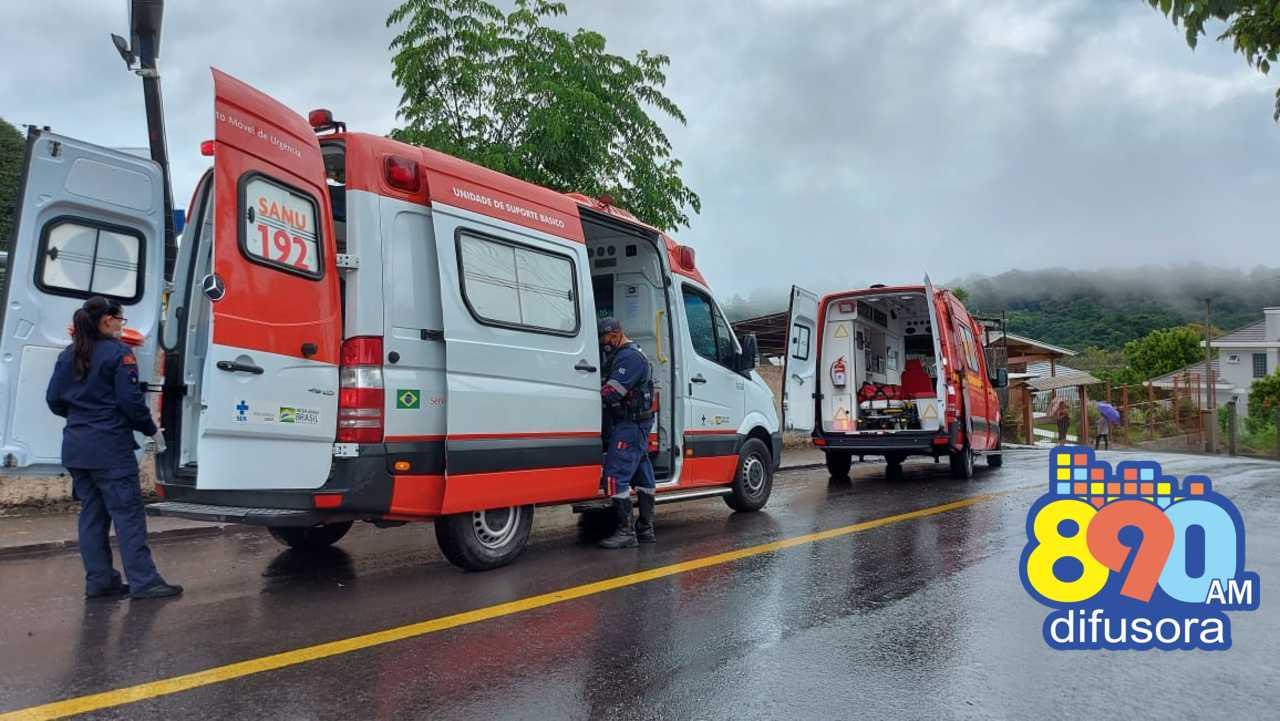 Motociclista fica ferido em acidente no São Roque, em Bento