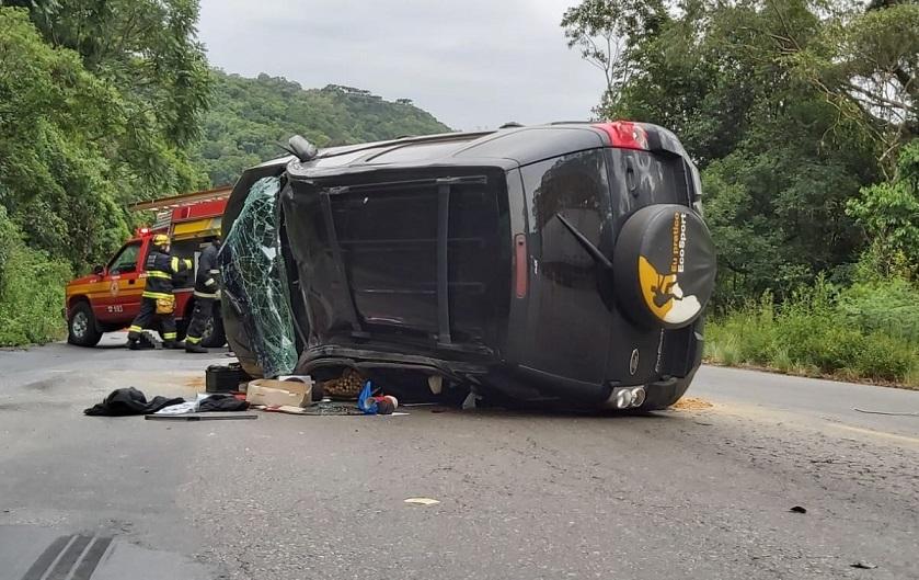 Homem fica ferido em acidente na ERS-446, em Carlos Barbosa
